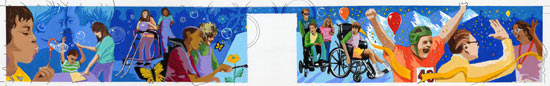 Charles L Lowman Special Education Center Mural